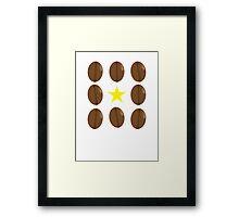 Coffee beans vector design Framed Print