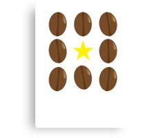 Coffee beans vector design Canvas Print