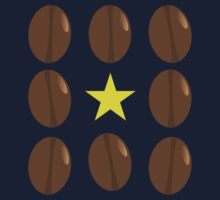 Coffee beans vector design Kids Tee