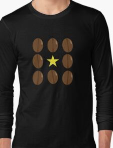 Coffee beans vector design Long Sleeve T-Shirt