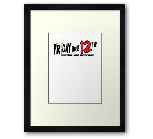 Friday The 12th Framed Print