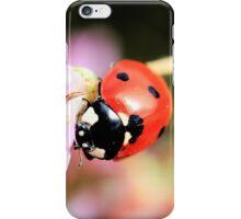 Ladybug & Pink Wildflowers Phone Case iPhone Case/Skin