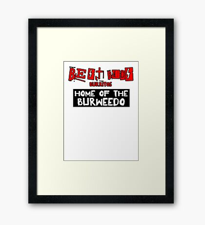 Best Buds - Home of the Burweedo Framed Print