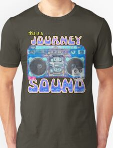 This is a Journey into Sound boombox design. T-Shirt
