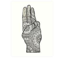 Hunger games Salute symbol Mandala Design. Art Print