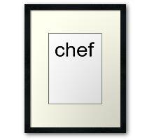 SP - Chef Framed Print