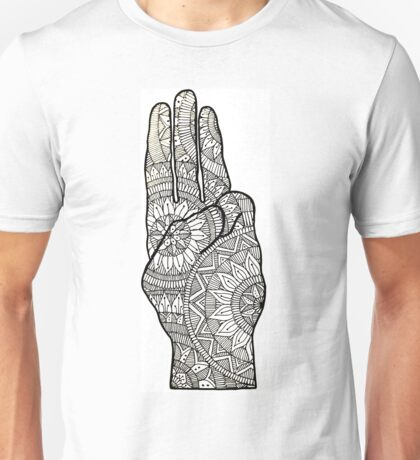Hunger games Salute symbol Mandala Design. Unisex T-Shirt