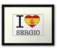 I ♥ SERGIO Framed Print