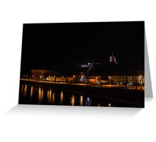 Vilnius at Night Greeting Card