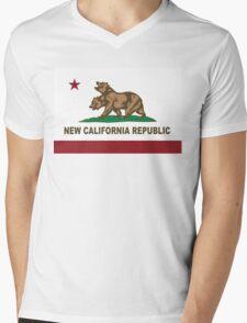 New California Republic Flag Original  Mens V-Neck T-Shirt