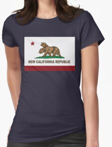 New California Republic Flag Original  Womens Fitted T-Shirt