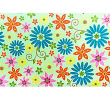 Flowers Background Photographic Print