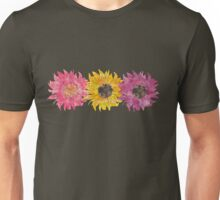 Triple Sunflower  Unisex T-Shirt