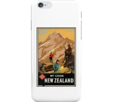 New Zealand Vintage Poster iPhone Case/Skin