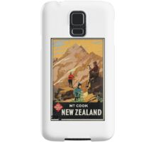 New Zealand Vintage Poster Samsung Galaxy Case/Skin