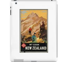 New Zealand Vintage Poster iPad Case/Skin