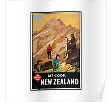 New Zealand Vintage Poster Poster