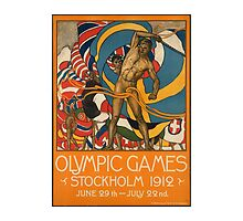 Olympic Games Stockholm Vintage Poster by AmazingMart