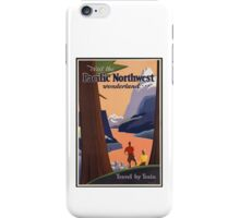 Pacific Northwest Vintage Art iPhone Case/Skin