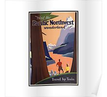 Pacific Northwest Vintage Art Poster