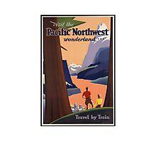 Pacific Northwest Vintage Art Photographic Print