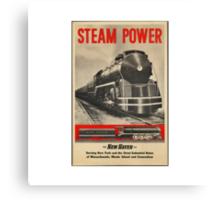 Steam Power Train Vintage Art Canvas Print