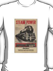 Steam Power Train Vintage Art T-Shirt