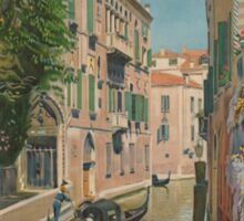 Venice Italy Vintage Art Sticker