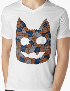 Cat Faice Mens V-Neck T-Shirt