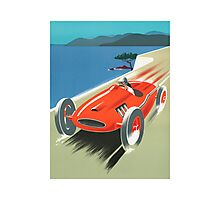 Racecar Vintage Art Photographic Print