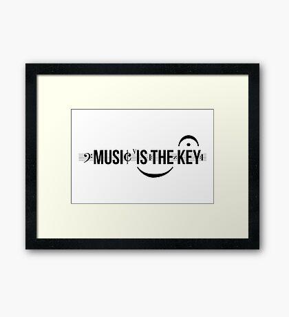Music Is The Key Framed Print