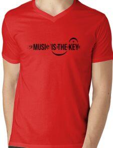 Music Is The Key Mens V-Neck T-Shirt