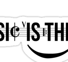 Music Is The Key Sticker