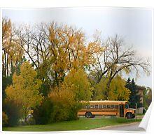 School Bus and Autumn Tones Poster