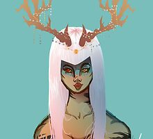 Horned Warrior Goddess by DixxieMae