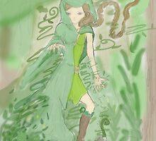Green Sorceress by silentsunlight