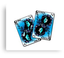 Inuit Playing Cards Canvas Print