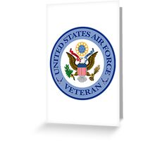 Air Force Veteran/Great Seal Greeting Card