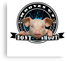 Hooves up, Dont Shoot Canvas Print