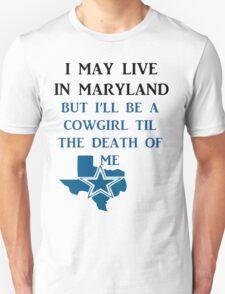 DIE HARD MARYLAND COWGIRL  T-Shirt