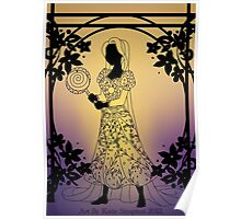 Silhouette Rapunzel Poster