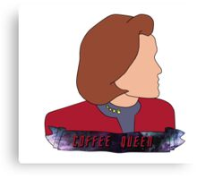 Janeway the Coffee Queen Canvas Print