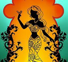 Silhouette Jasmine by Redhead-K