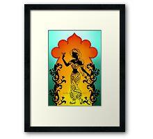 Silhouette Jasmine Framed Print