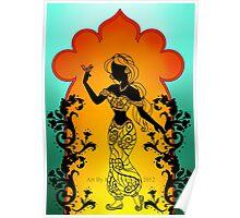 Silhouette Jasmine Poster