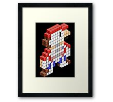Sawed Off Mario (Cross Section) Framed Print