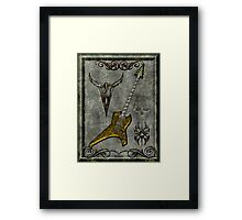 Black Metal Guitar Digital Art Framed Print