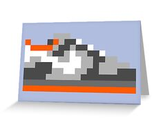 8-bit Kicks (Pigeon) Greeting Card