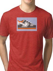 8-bit Kicks (Pigeon) Tri-blend T-Shirt