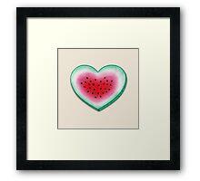 Summer Love - Watermelon Heart Framed Print